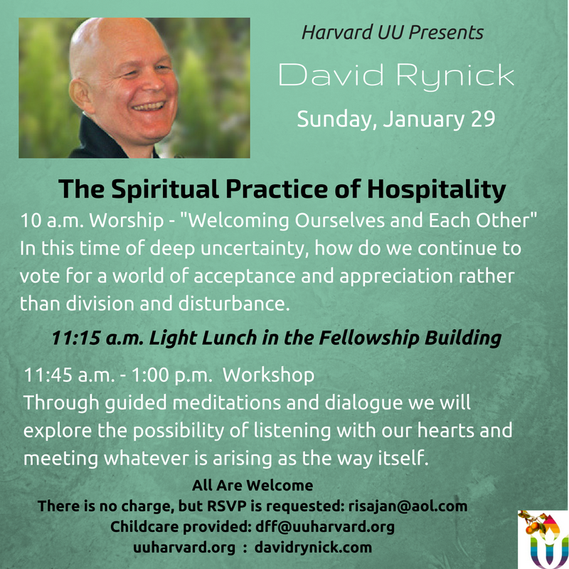 David Rynick Workshop on January 29th at 11:45-1:00
