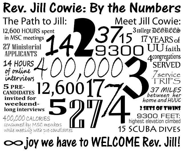 Our New Minister, The Rev. Jill Cowie, begins August 1st
